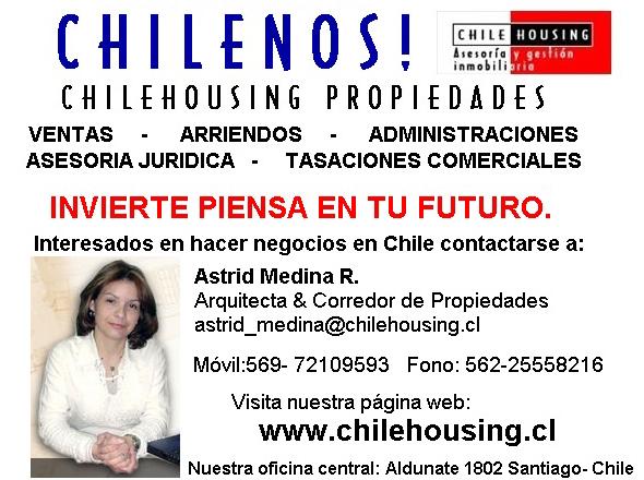 Chilenos Propiedades y Ayudante de invertir en Chile