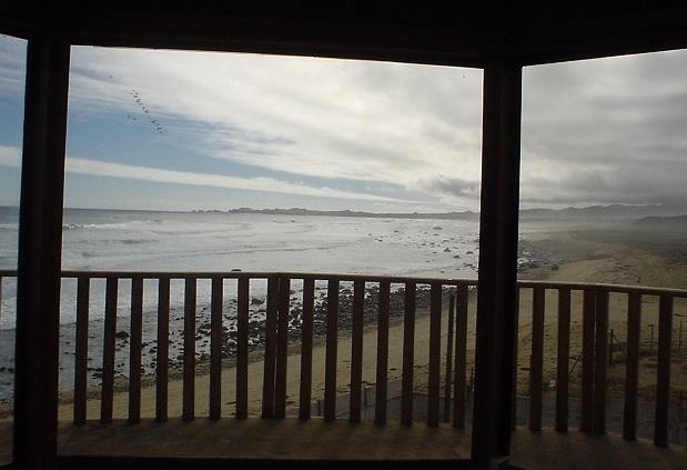 Hermosa vista del mar desde casa que esta frente del mar Chile