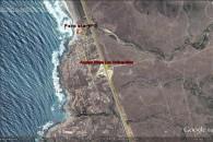 Mapa del Etorno de Parcela de Agrado con Edifico en Playa de los Quinquelles