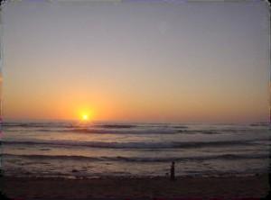 Puesta de Sol desde el Hotel en Playa de los Quinquelles en Vende
